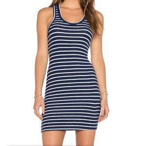 Hye Park and Lune sexy t-back striped dress 1